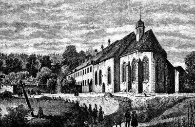 Rysunek starego kościoła