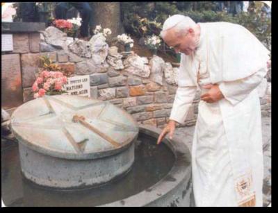 Św. Jan Paweł II w Banneux
