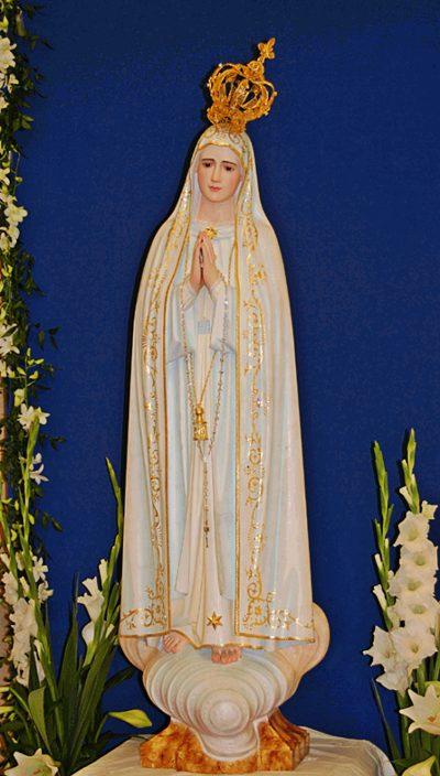 Kopia figury Matki Bożej Fatimskiej